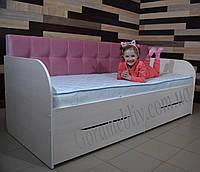 """Детская односпальная кровать """"Л-7"""" (для девочки)"""