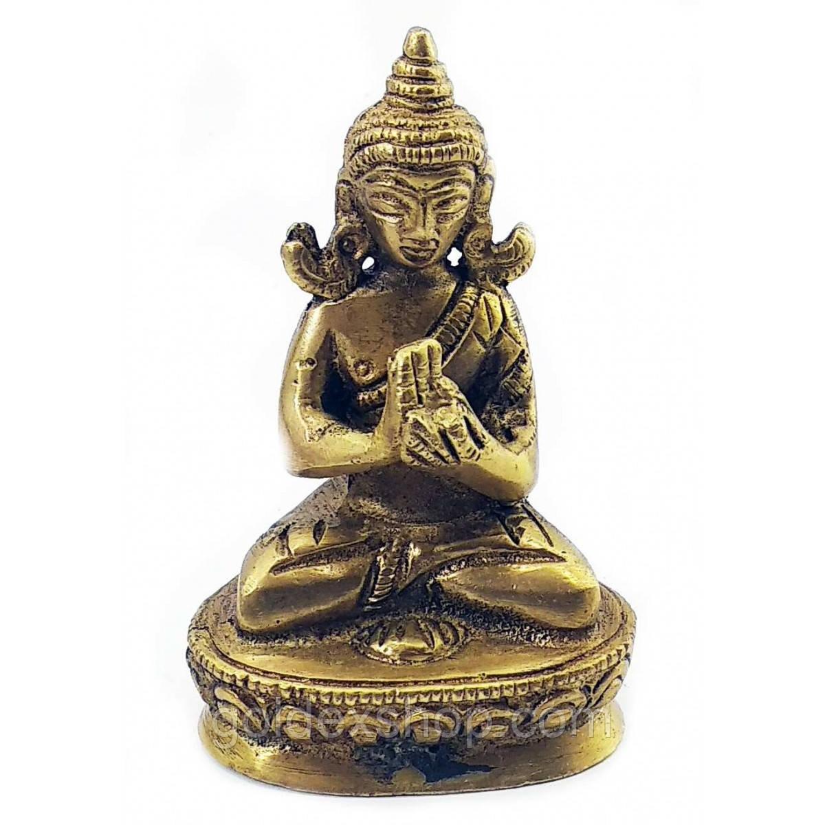 Статуэтка Будды из бронзы (Высота 7.5 см) C