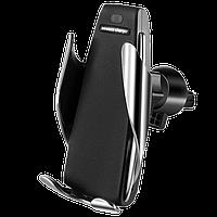 Универсальный автомобильный держатель для телефона HOLDER S5/5373 Wireless charge+Sensor, фото 1