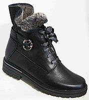 Ботинки женские зимние из натуральной кожи большого размера от производителя модель В3528-12