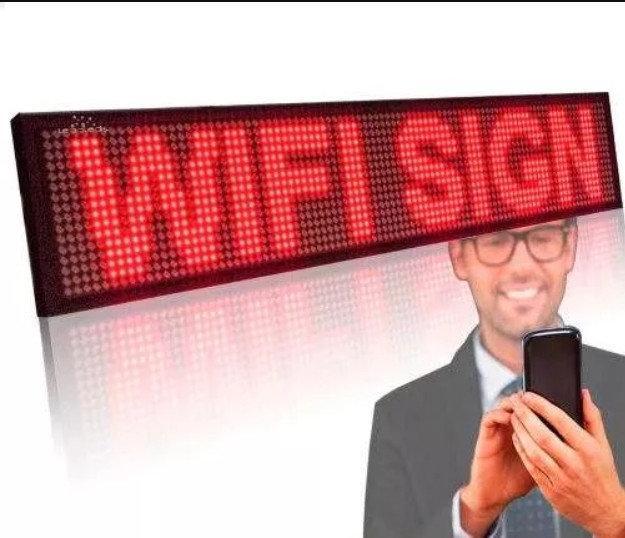 Бегущая строка 200*40 Red + Wi-Fi, рекламная строка светодиодная