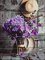 """Картина по номерам """"Деревенский букет"""" набор для рисования, 30х40 см, С Коробкой"""