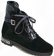 Ботинки женские зимние из натуральной замши большого размера от производителя модель В3528-11-2