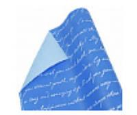 "Бумага упаковочная пт856.2 подарочная ""Письмо"", двухсторонний синий и белый шрифт крафт 0.7 х10м"
