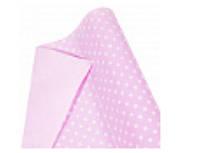 """Бумага упаковочная пт857 подарочная """"Горошек белый, розовый"""", двухсторонний крафт 0.7 х10м"""