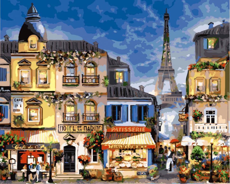 Картина по номерам Блистательный Париж, 40x50 см., Brushme