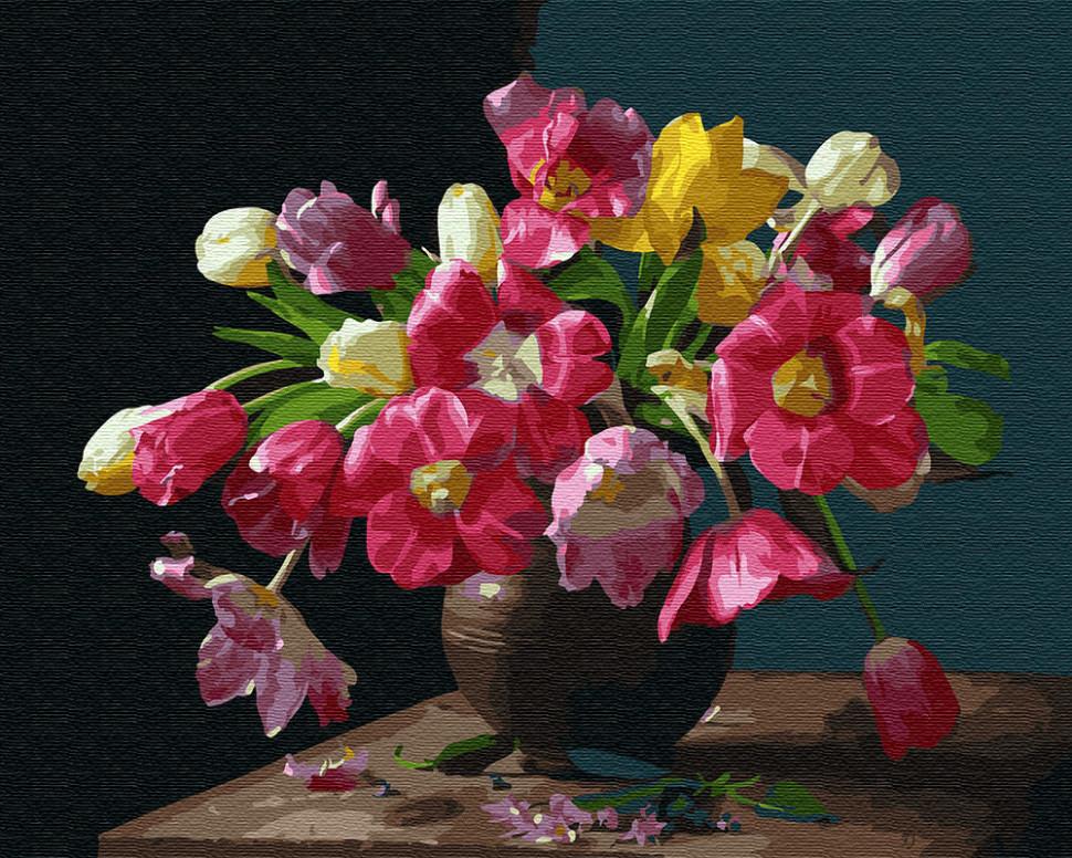 Картина по номерам Красочные цветы, 40x50 см., Brushme