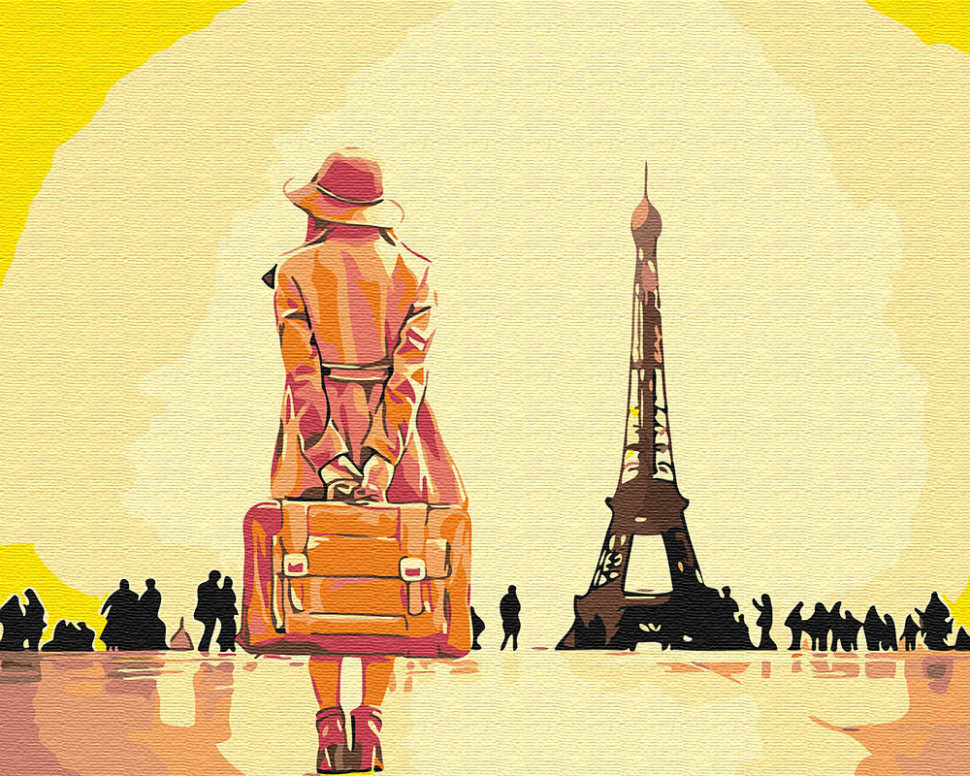 Картина по номерам Путешественница в Париже, 40x50 см., Brushme
