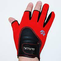 Перчатки спиннингиста «FISHING ROI» WK-11 Красные