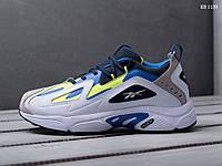 Мужские кроссовки Reebok DMX, кожа, пена, белые с синим 41 (26 см)