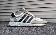 Мужские кроссовки в стиле Adidas Iniki Runner Gray/White, серые 44 (28 см)