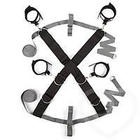 Крестообразная ременная система для фиксации к кровати ЗАМРИ, Fifty Shades of Grey - бдсм, наручники