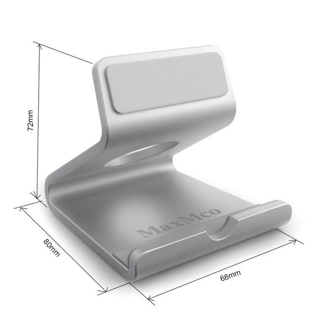 Металлическая подставка-держатель MaxMco для телефона или планшета