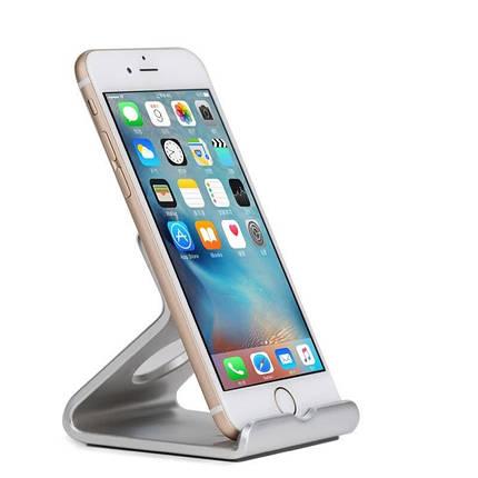 Металлическая подставка-держатель MaxMco для телефона или планшета (Серебристая), фото 2