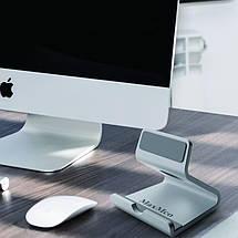Металлическая подставка-держатель MaxMco для телефона или планшета (Серебристая), фото 3
