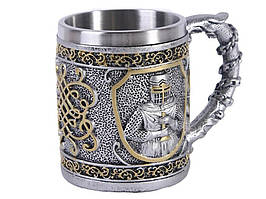 Кружка с рыцарем 3D Knight Cup 5 см х 11 см х 9 см