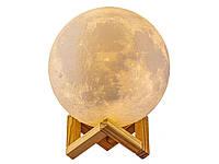 3D Ночник Луна Moon USB светодиодный 8 см