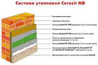 Утепление фасадов минеральной ватой Ceresit-pro МВ