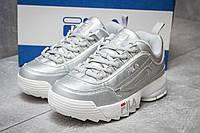 Женские кроссовки в стиле Fila Disruptor 2, серебряные 38 (23,9 см)