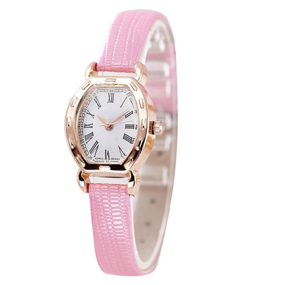 Наручные часы женские с розовым ремешком код 291