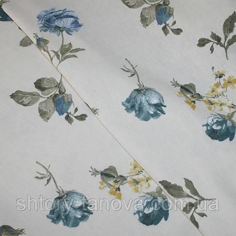 Декор панама лима цветы мелкие синий