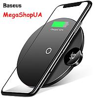 Беспроводное зарядное устройство Baseus Digtal LED Display Wireless Charger - черный, белый, синий