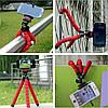 Гибкий мини штатив тринога трипод для телефона и камеры 25 см (осьминог, паук), фото 9