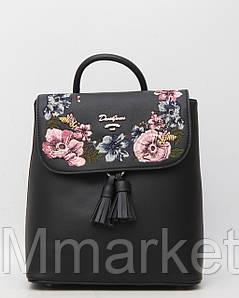 Стильний шкіряний (шкіра штучна) жіночий рюкзак David Jones / Девід Джонс
