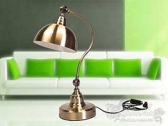 Стильна настільна лампа патрон Е27 колір бронза Діаша&601/T BR