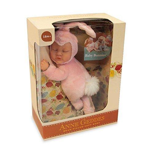 П,  Анне Геддес Розовый   Зайчик младенец ANNE GEDDES Pink Baby Bunny, 23 см  Оригинал!