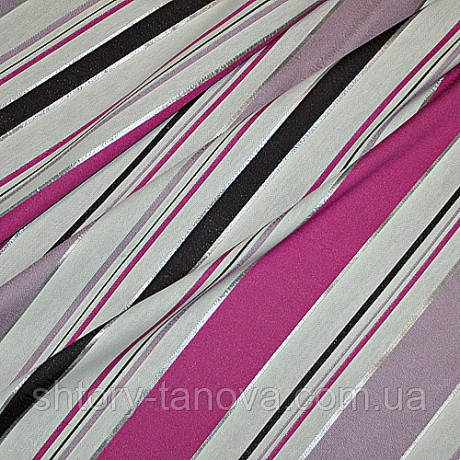 Декор артета полоса ярко-розовый/клевер