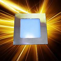 Светодиодная панель 120x120 6W IP20 Gold, фото 1