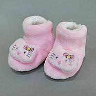 Теплые домашние тапочки-угги Hello Kitty для девочки. 12; 12.5 см