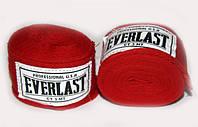 Бинты боксерские EVERLAST  (х-б, l-3м, красный, синий, черный)