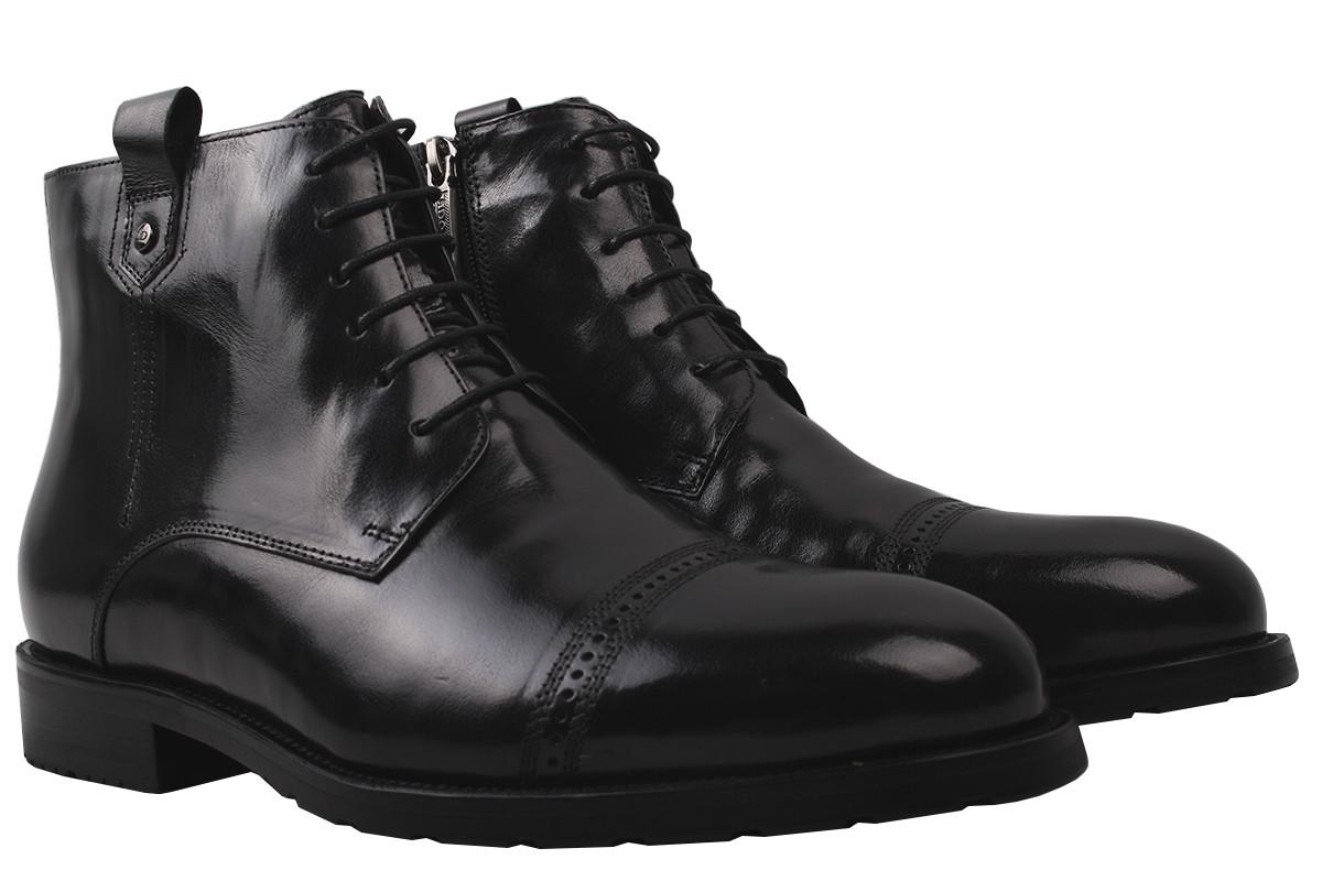 Ботинки мужские зимние Lido Marinozi натуральная кожа, цвет черный, размер 39-45