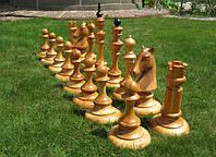 Шахматы парковые деревянные h=35-70см Шахматы напольные Шахматы садовые