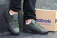 Мужские кроссовки в стиле Reebok, тёмно-зеленые 43 (27,5 см)
