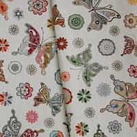 Декор жаккард мелкие бабочки