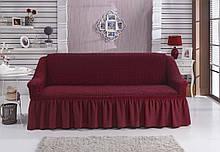 Чехол на диван с юбкой Бордовый Home Collection Evibu Турция 50059
