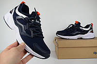Мужские кроссовки в стиле Reebok FURY Adapt, синий/оранжевый кожа+сетка 42 (27 см)