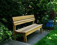 Парковая скамья деревянная
