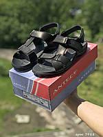 Мужские сандали в стиле Antec, кожа, черные *** 41 (26,7 см)