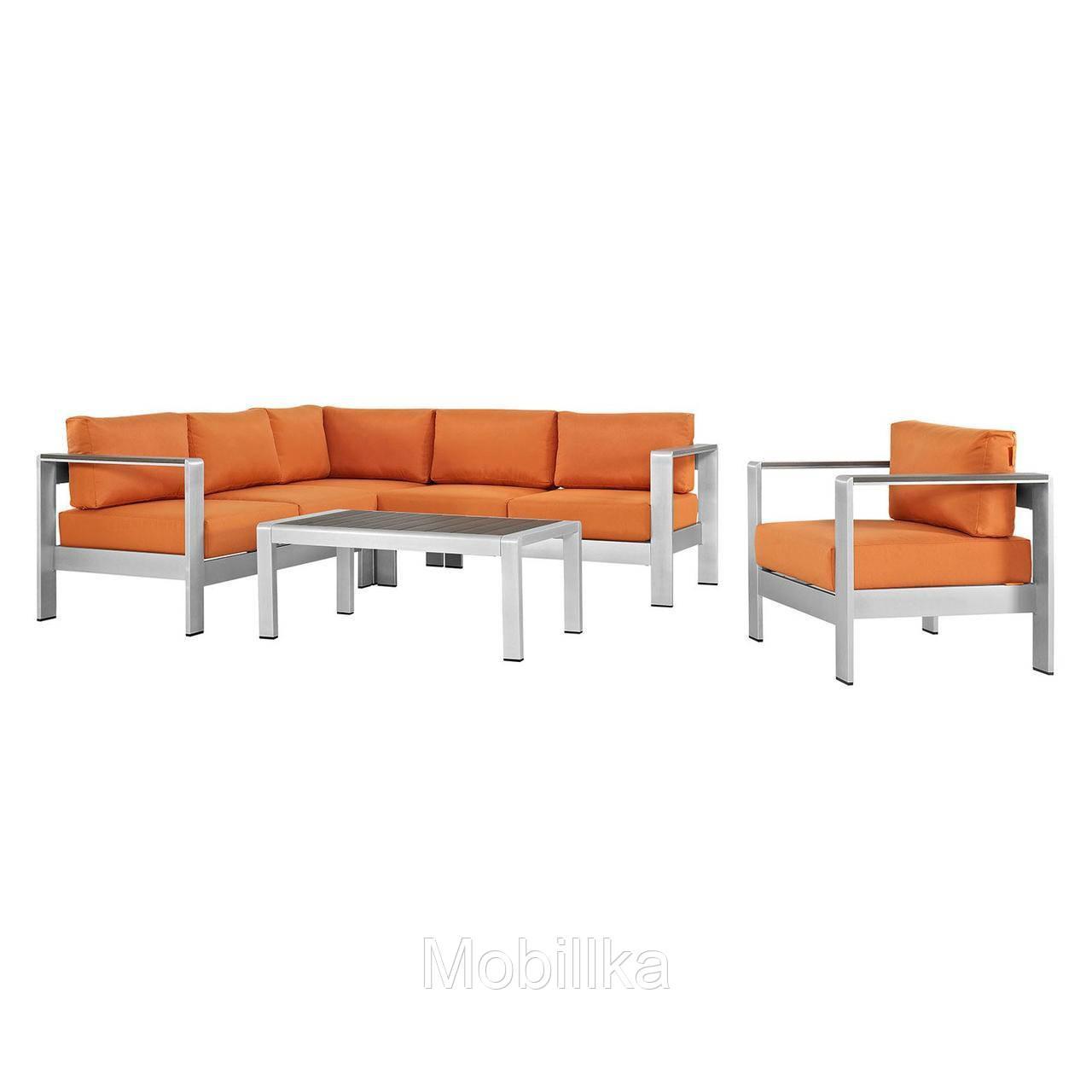 комплект уличной мебели диван кресло столик в стиле Loft Ns 970003835 Biglua