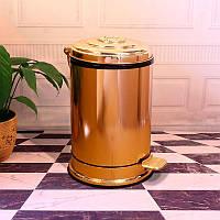 Ведро для мусора с педалью Art Design CH1501 Золото, 6л