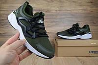 Мужские кроссовки в стиле Reebok FURY Adapt, зеленые кожа+сетка 41 (26,5 см)