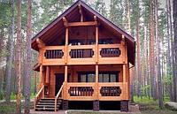 Дом деревянный из профилированного бруса 9х8 м