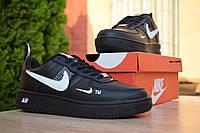 Мужские кроссовки Nike Air Force 1 Mid LV8, кожа, пена, черные 44 (28,5 см)