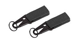 101 Inc. - MOLLE snap hook with keyring - 2 pcs - Black - JF003