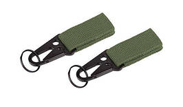 101 Inc. - MOLLE snap hook with keyring - 2 pcs - OD Green - JF003