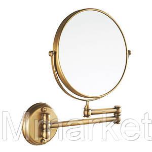 Косметическое зеркало в ванную настенное Art Design бронза